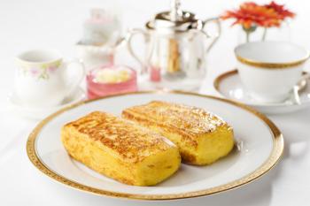 朝食にフレンチトースト
