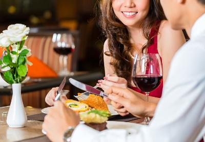 出合いサイトの友達と食事デート