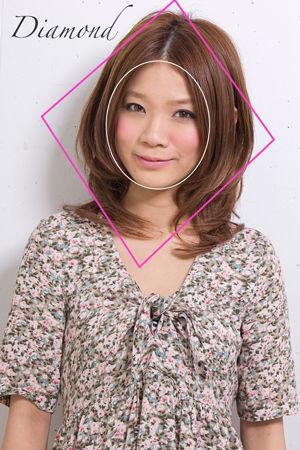 似合う髪型なら、ひし形に!