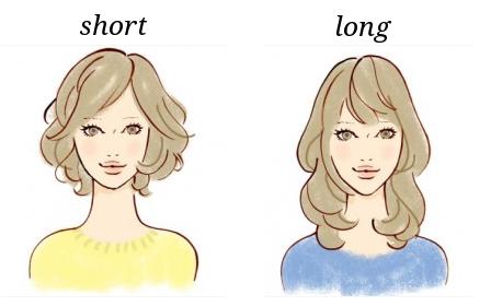 面長の女性 髪型