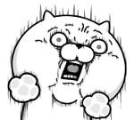 びっくりする猫 スタンプ