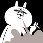 怒るうさぎ タバコを吸う